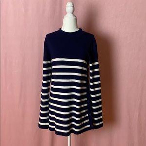 Zara navy and white striped knit NWOT